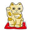 「バカラ/Baccarat 招き猫 ゴールド」そんニャバカラ!?こりゃ金運あがるニャ。