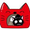 トンネルが付いちゃった!ニャンコの型がかわゆすな「猫の爪とぎ キャットトンネル」