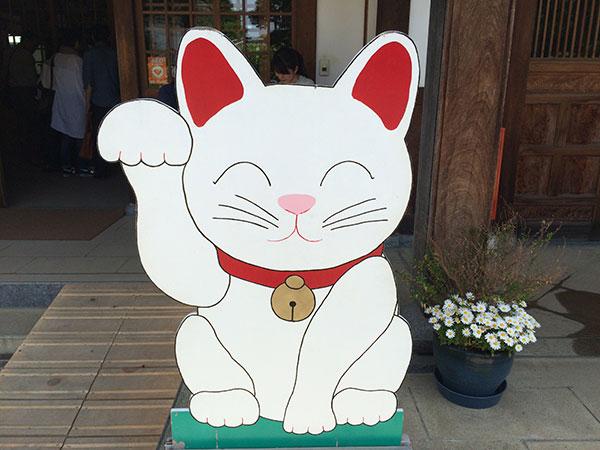 招き猫看板