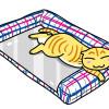 暑くなってもへっちゃらニャ!「さわやかマリン プレート用ベッド」