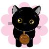 まるで本物ニャ!Stuffed Toy Cat「黒猫(子猫)座りバージョン」