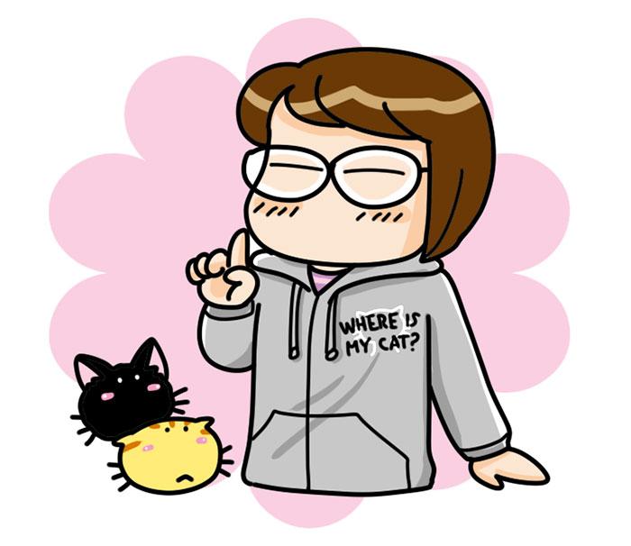 猫柄パーカー