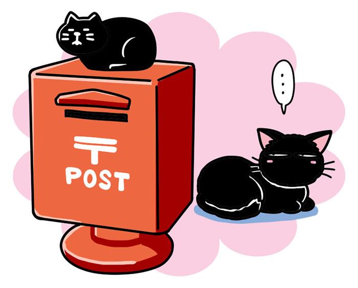 concombre/コンコンブル 旅猫 郵便ポスト貯金箱