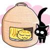 お値段もお手ごろの洋風な猫ちぐらニャ!「ウォーターヒヤシンスペットベッド」