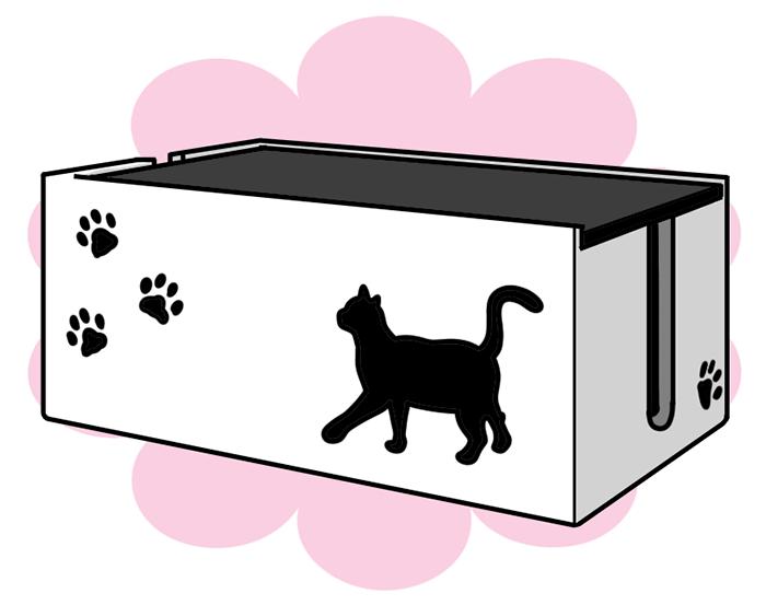 黒猫シリーズ 猫のケーブルBOX