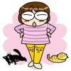 ちょっと衝撃的?な、ひざにニャンコの刺繍の猫レギパンだニャ!