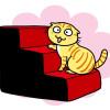 「カバーリング ペットスロープ&ステップ」アンヨが弱い猫もこれで高い所も大丈夫ニャ!