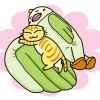 寒〜い季節にぴったり!一緒に添い寝してくれちゃう面白インコちゃんのベッドなのニャ!