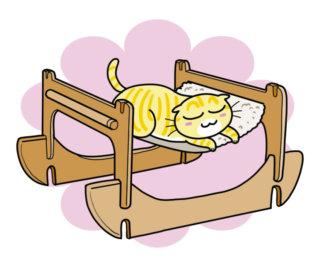 やっぱりベッドはハンモックにゃ!「リバーシブルハンモック」