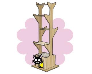まるで木みたい「キャットツリー」おしゃれなキャットタワーだニャ!